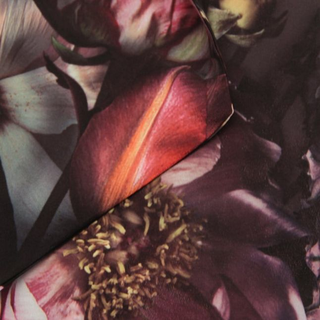 Womens Mid Grey Silvie Shadow Floral Skinny Scarf