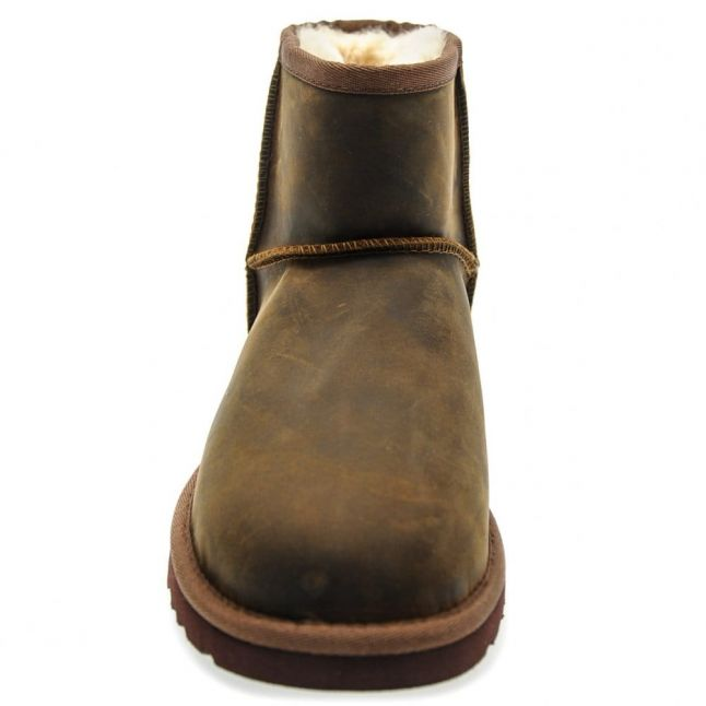 Womens Chestnut Classic Mini Leather Boots