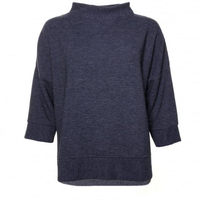 Womens Dark Grey Marl Sudan Marl 3/4 Sleeve Sweater