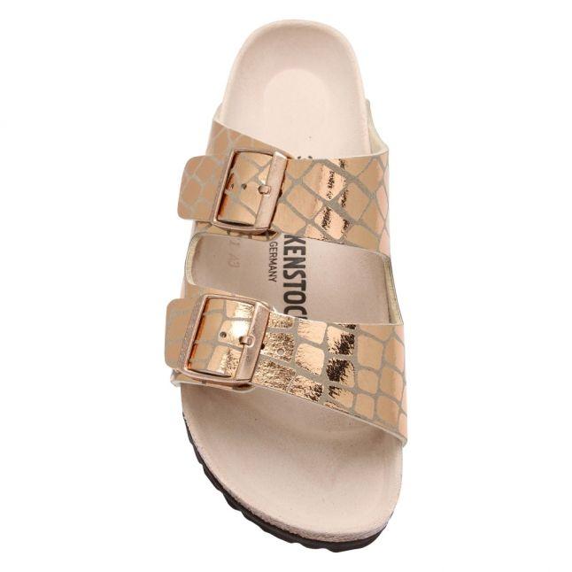 Womens Rose Gold Arizona Gator Gleam Sandals