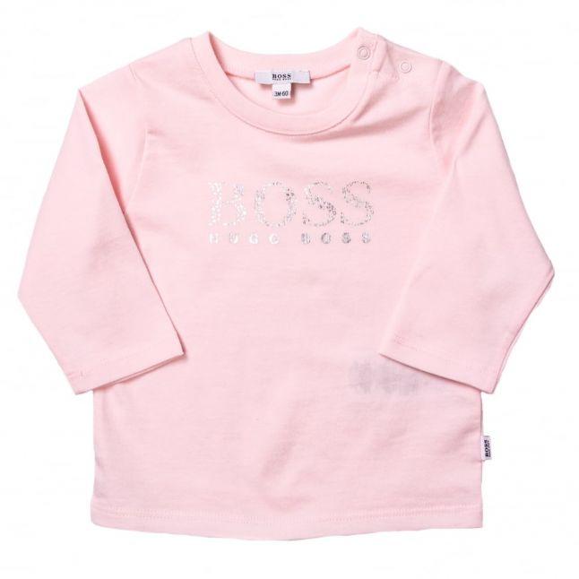 Baby Pink Printed L/s Tee Shirt