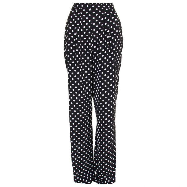 Womens Black Dot Pleated Pants