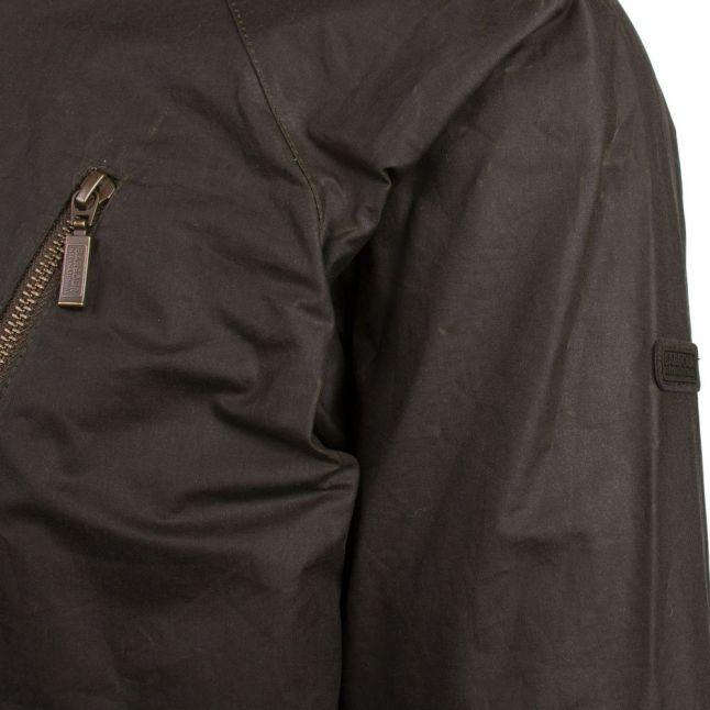 Mens Archive Olive Glendale Waxed Jacket