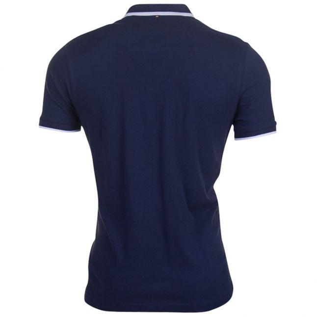 Mens Navy Multistripe S/s Polo Shirt