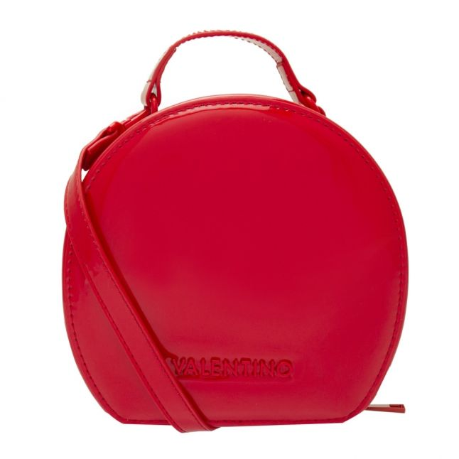 Womens Red Tamburo Patent Circle Bag