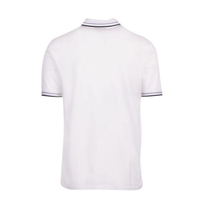 Mens White Tipped Pique S/s Polo Shirt