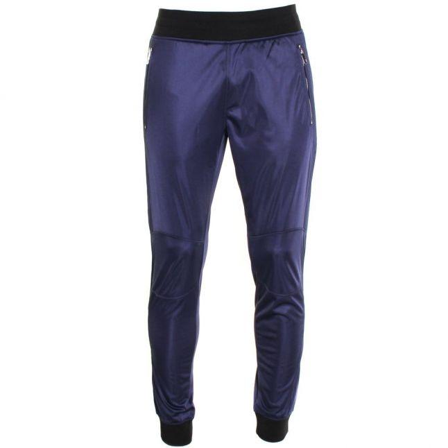 Mens Blue Marine Silver Label Polyester Cuffed Jog Pants