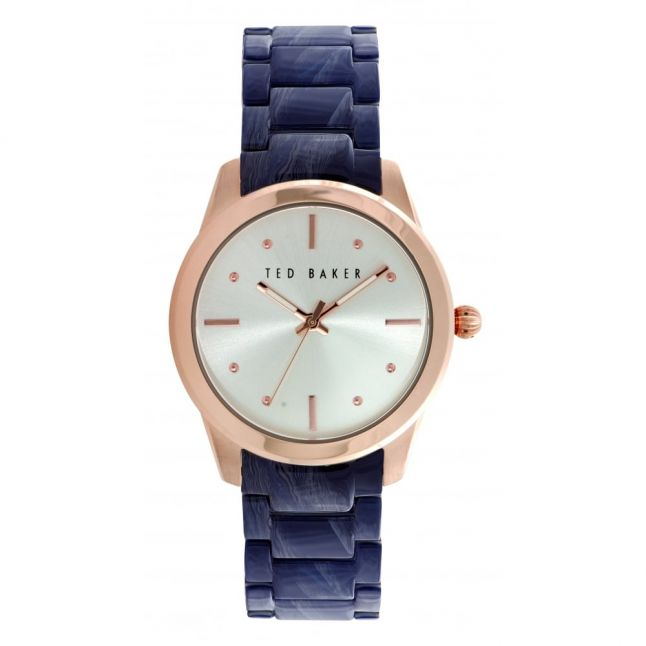 Womens Blue Bracelet Strap Watch