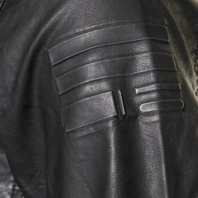 Mens Black Revend Pleather Jacket