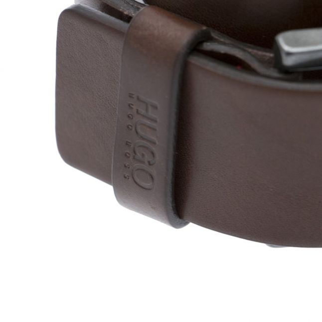 Mens Dark Brown Gionio Leather Belt