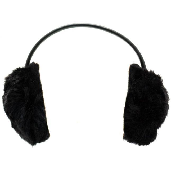 Womens Black Alvie Faux Fur Earmuffs