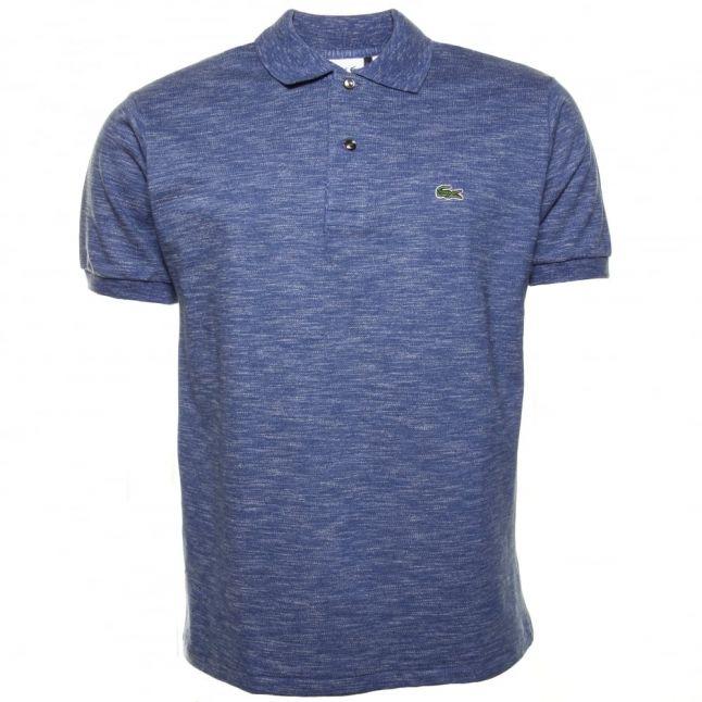 Mens Blue Classic Marl S/s Polo Shirt