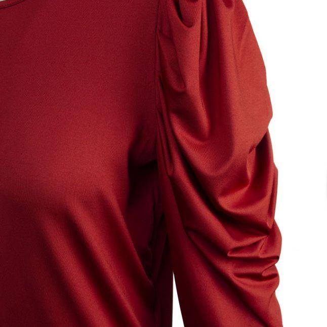 Womens Burnt Henna Vileoa Puff Sleeve Dress