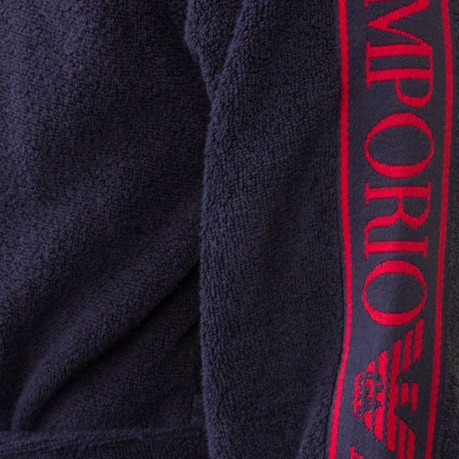 Mens Marine Logo Sleeve Robe