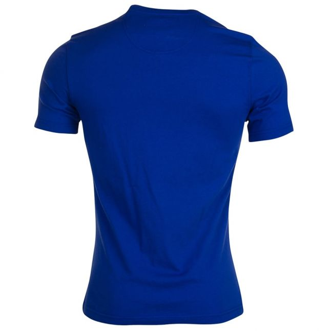 Mens Blue Small Logo S/s Tee Shirt