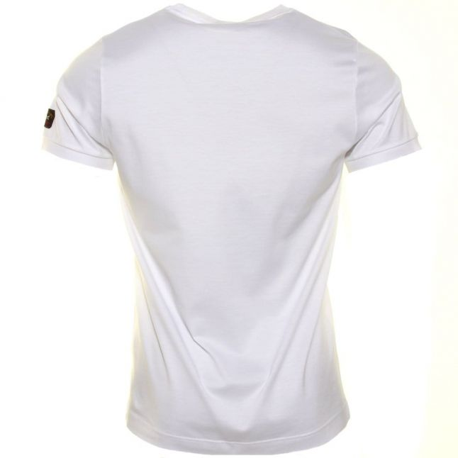 Paul & Shark Mens White Shark Fit Pocket S/s Tee Shirt
