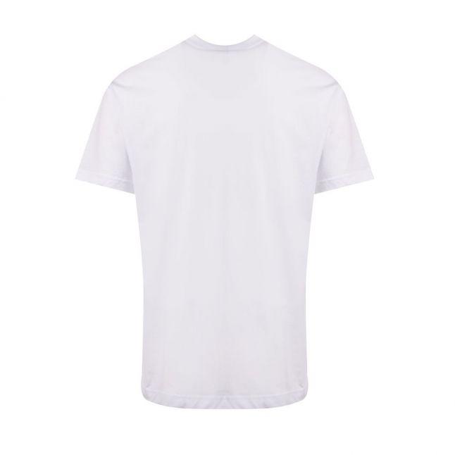Mens White Large Foil Logo Regular Fit S/s T Shirt