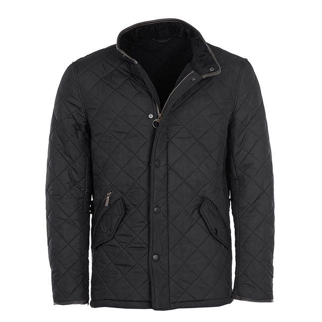 Mens Black Powell Quilted Jacket