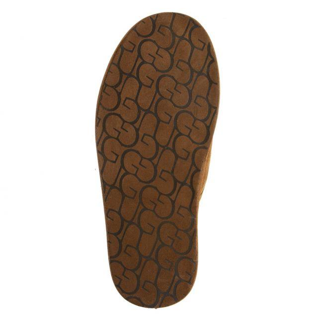 Mens Chestnut Scuff Slippers