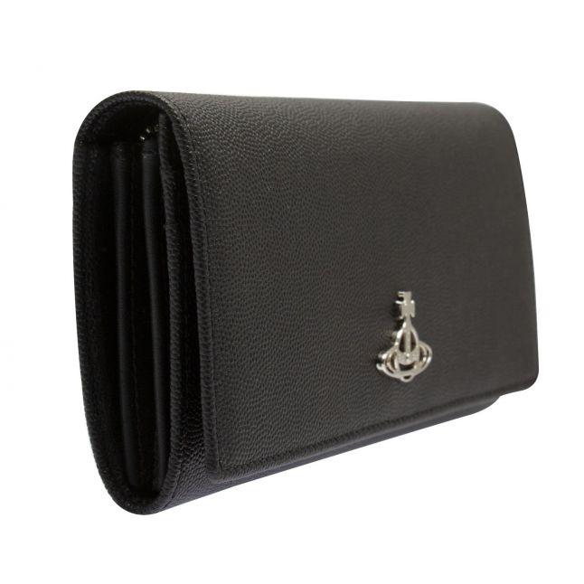 Womens Black Windsor Leather Long Card Purse