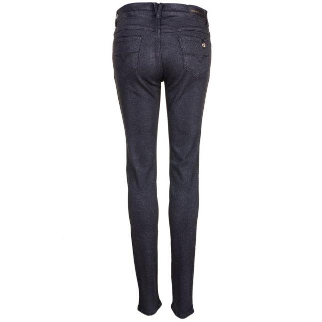 Womens Black Sparkle Skinny Fit Jeans