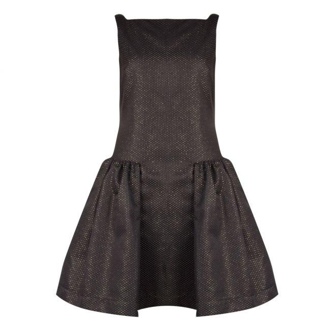 Vivenne Westwood Anglomania Womens Black/Gold Degass Dress