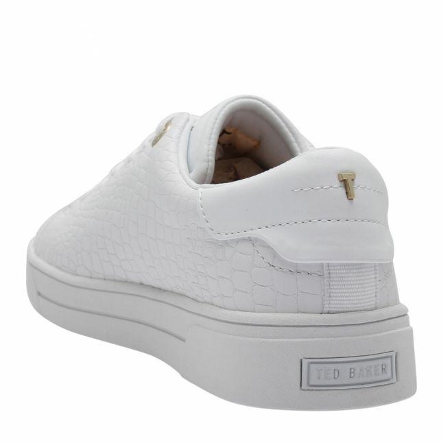Womens White Zennco Croc Trainers