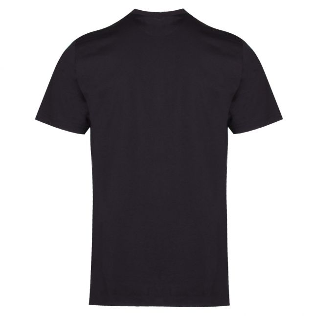 Mens Black Colour Letters Slim Fit S/s T Shirt