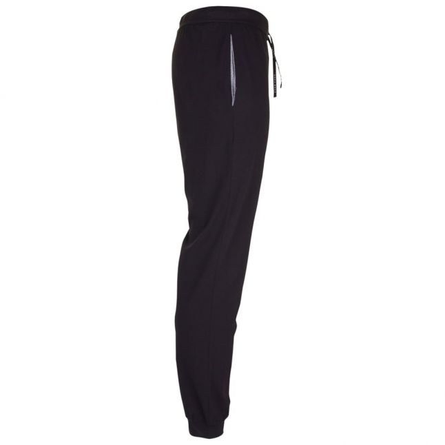 Mens Black Cuffed Loungewear Sweat Pants