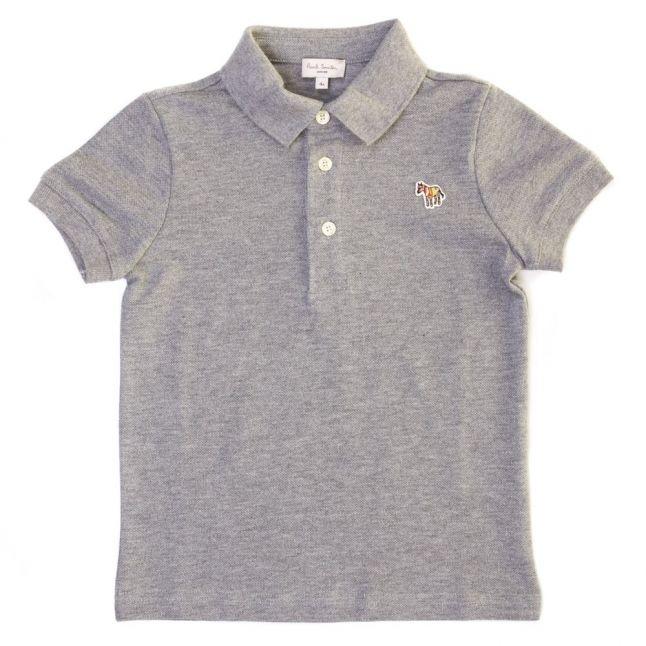 Boys Grey Marl Luciano S/s Polo Shirt