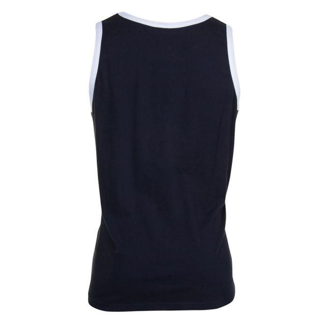Mens Black Small Logo Vest Top