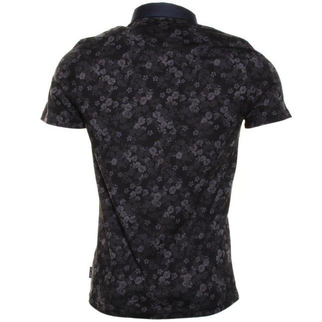 Mens Charcoal Novacas Floral S/s Polo Shirt