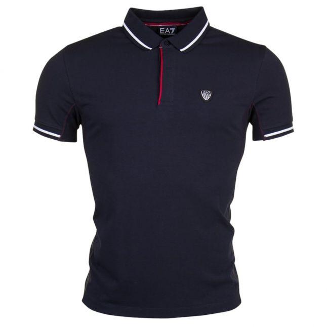 Mens Night Blue Tennis Classic S/s Polo