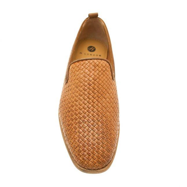 H By Hudson Mens Tan Ipanema Weave Shoe