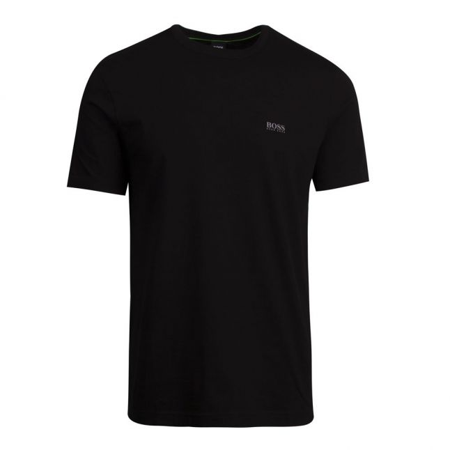 Athleisure Mens Black Tee Small Logo S/s T Shirt