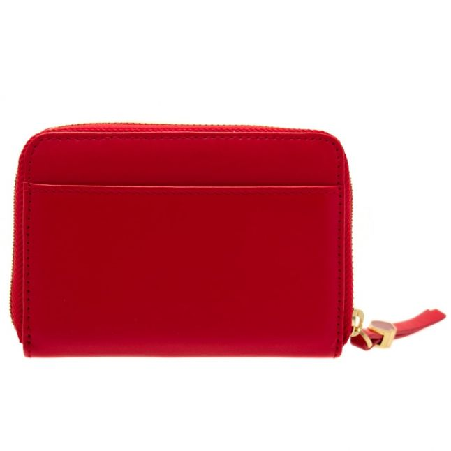 Womens Classic Red Small Continental Leather Wallet