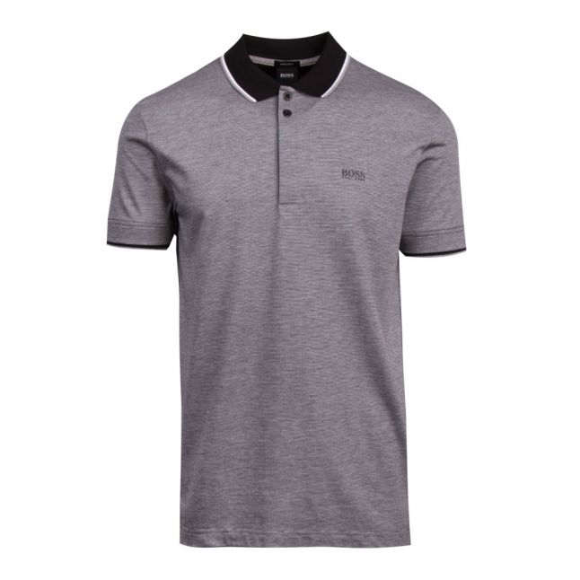 Athleisure Mens Black Paddy 2 Regular Fit S/s Polo Shirt