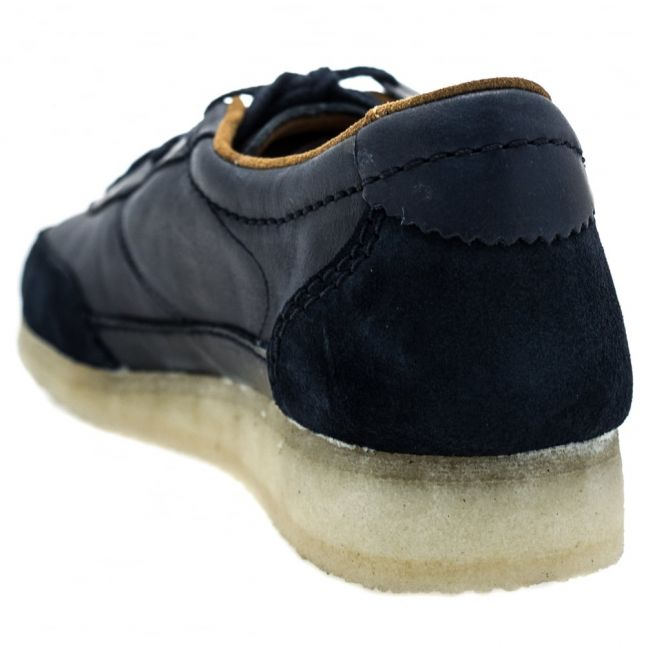 Mens Navy Leather Torcourt Super