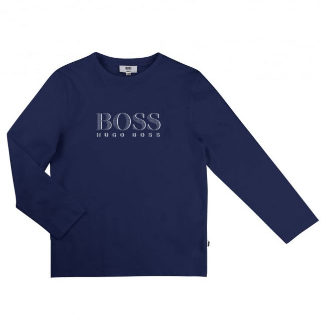 Boys Blue Branded L/s Tee Shirt