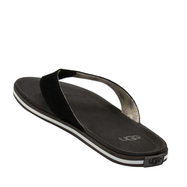 Mens Black Beach Flip Flops