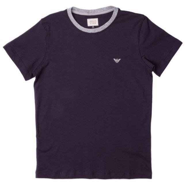 Boys Navy Small Logo S/s Tee Shirt (10yr+)