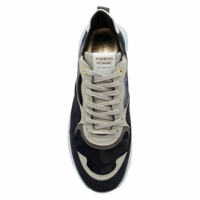 Mens Grey Camouflage Malibu Trainers