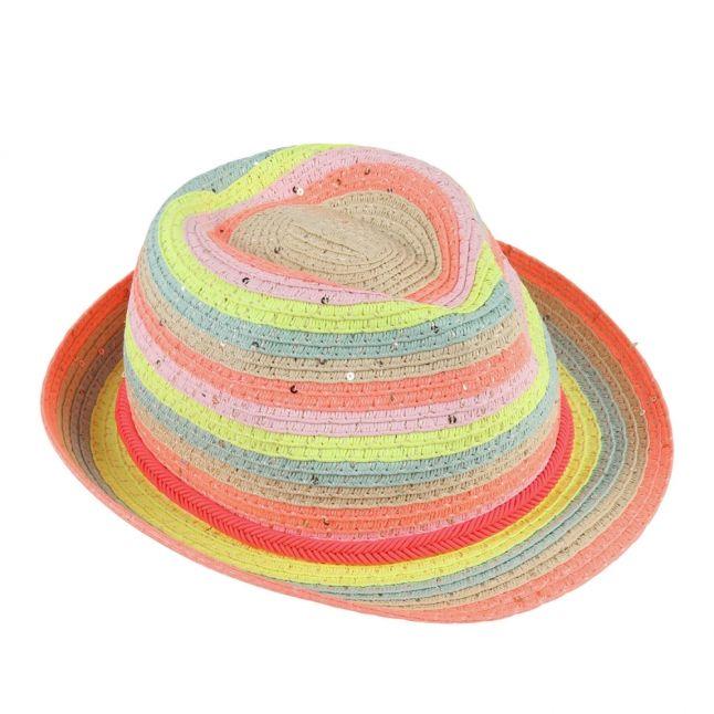 Girls Assorted Stripe Straw Hat