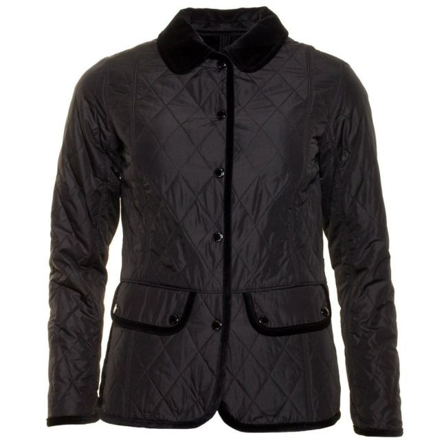 Womens Black Terrain Quilted Jacket