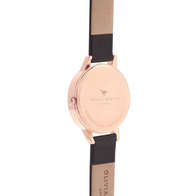 Womens Black & Rose Gold Midi Dial Watch