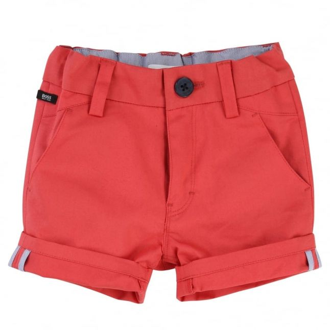 Baby Red Branded Shorts