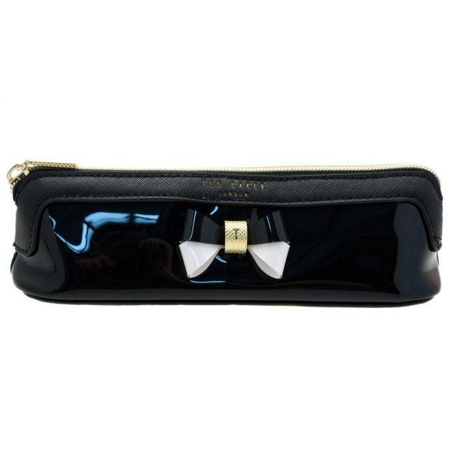 Womens Black Valda Bow Pencil Case