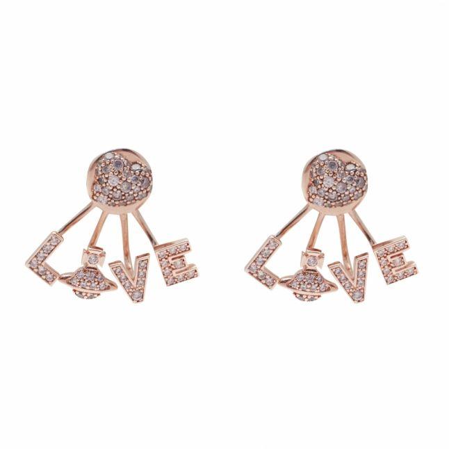 Womens Rose Gold Agatha Earrings