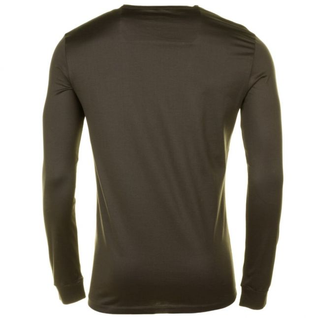 Mens Loden Green Black Label Badge L/s Tee Shirt