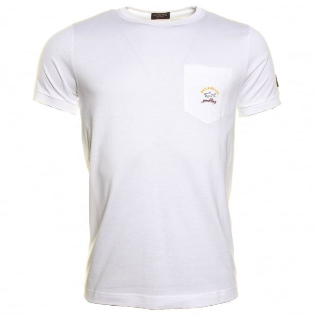 Paul & Shark Mens Small Logo Shark Fit Pocket S/s Tee Shirt